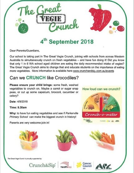 The Great Vegie Crunch – 4 September